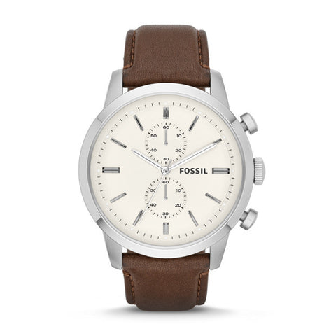 Townsman Chronograph Leather Watch, Brown - The Loft Boutique - Accessory  - 1