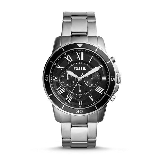 Grant Sport Chronograph Stainless Steel Watch, Black