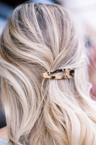 Hair Clip, Beige Tortoise | Fashionable Hair Accessories