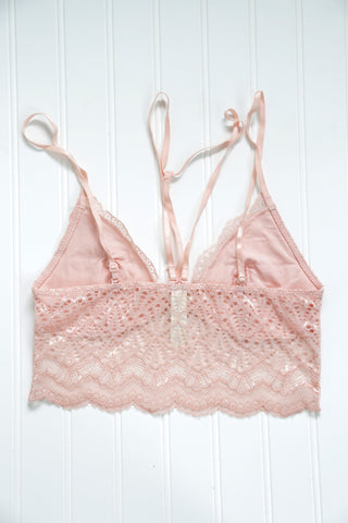 Aimless Lace Bralette, Blush