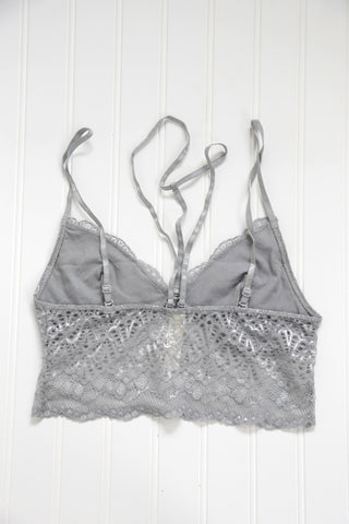 Aimless Lace Bralette, Grey