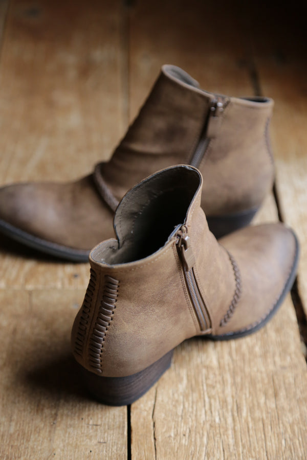 Chastity Boot, Tan | Rebels | Women's Quality Brand Shoes