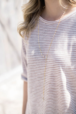 The Crystal Necklace, Gold | betsy pittard designs