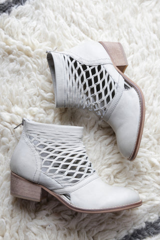 Cali Laser Cut Boot, Ice | Rebels | Quality Women's Shoes