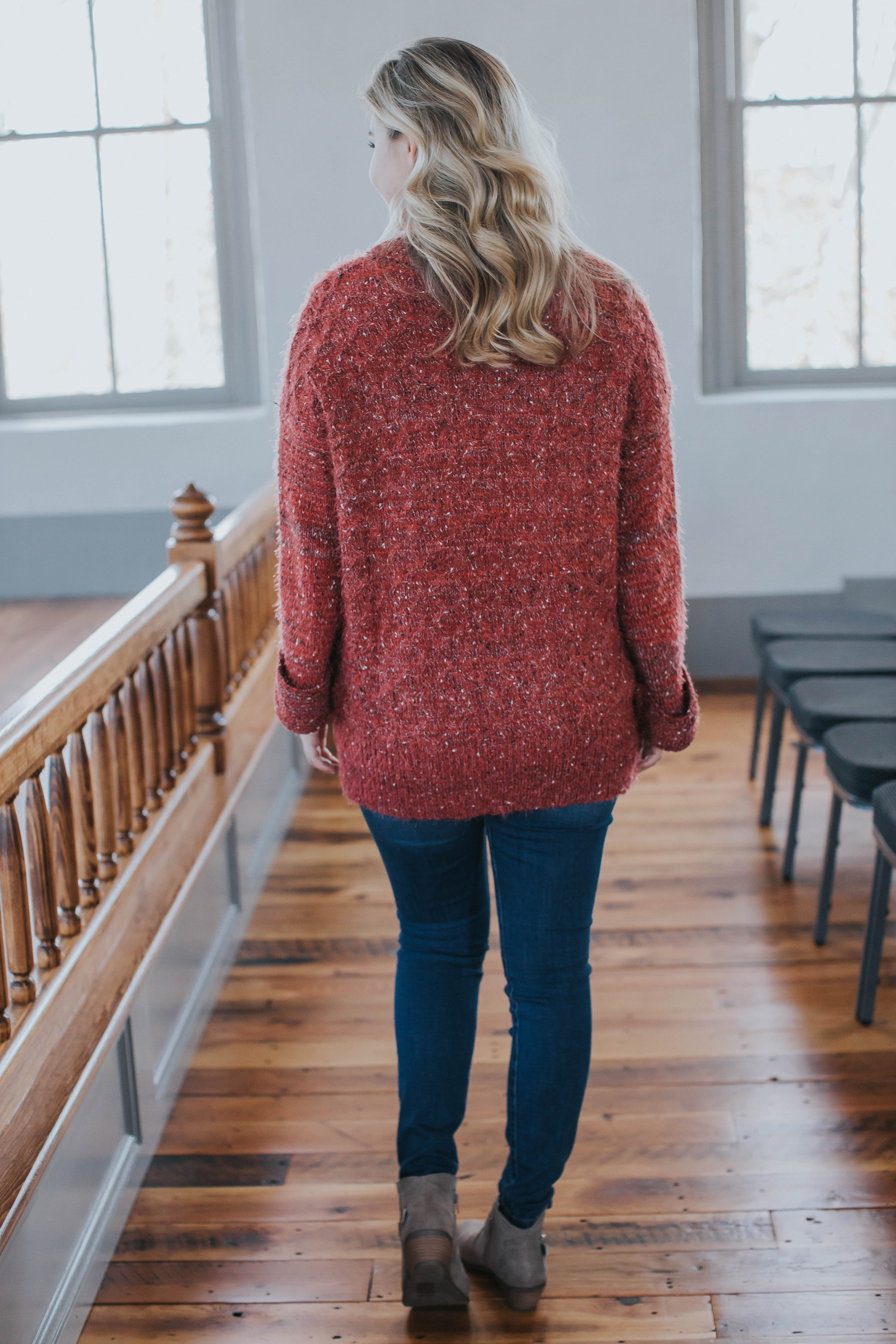 Fireside Textured Turtleneck Tunic, Raspberry