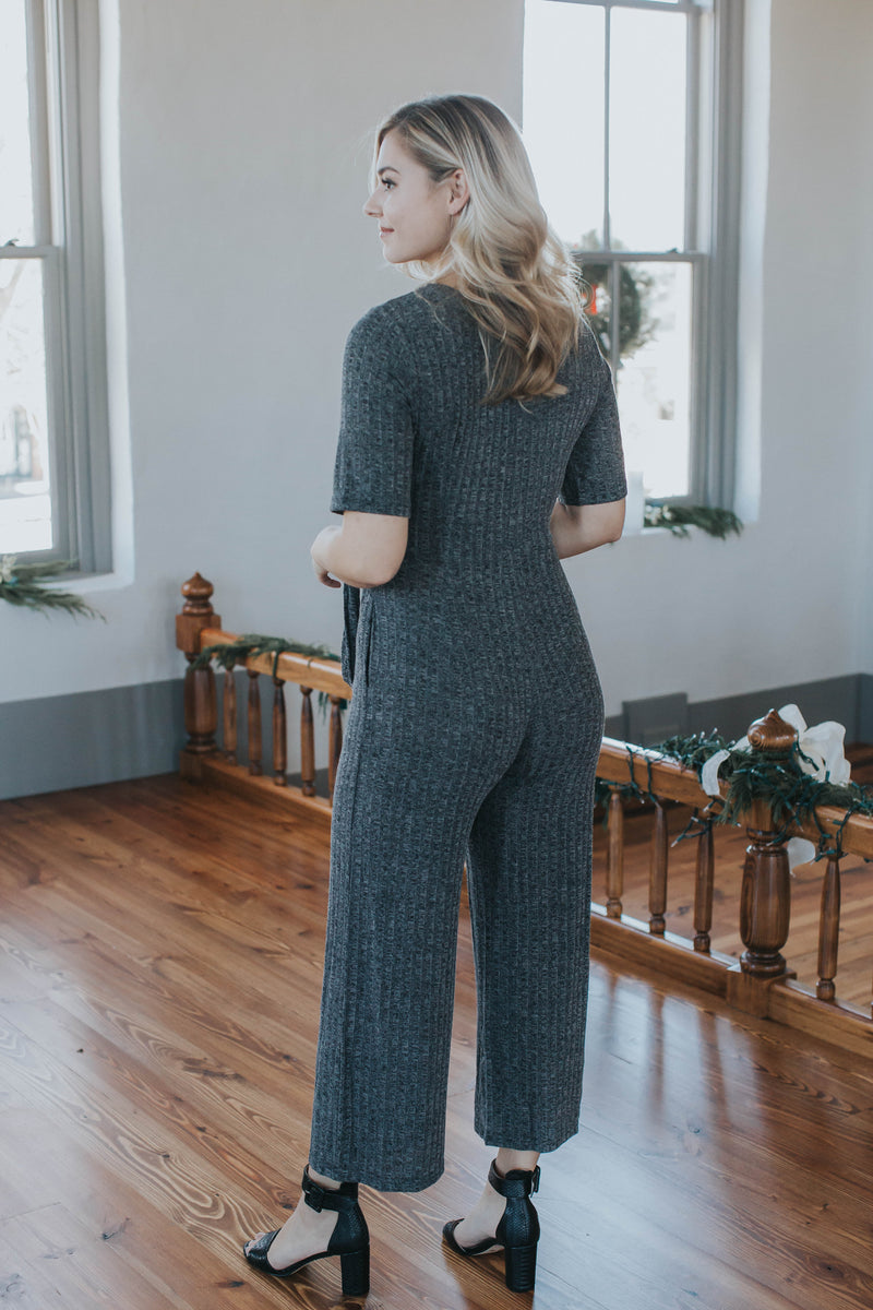 Knit Jumpsuit, Black