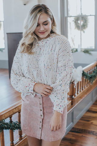 Cindy Lace Up Sweater, Berry