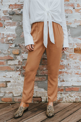 Toby Sleek Pants, Camel