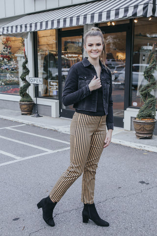 Striped Pant, Taupe/Black