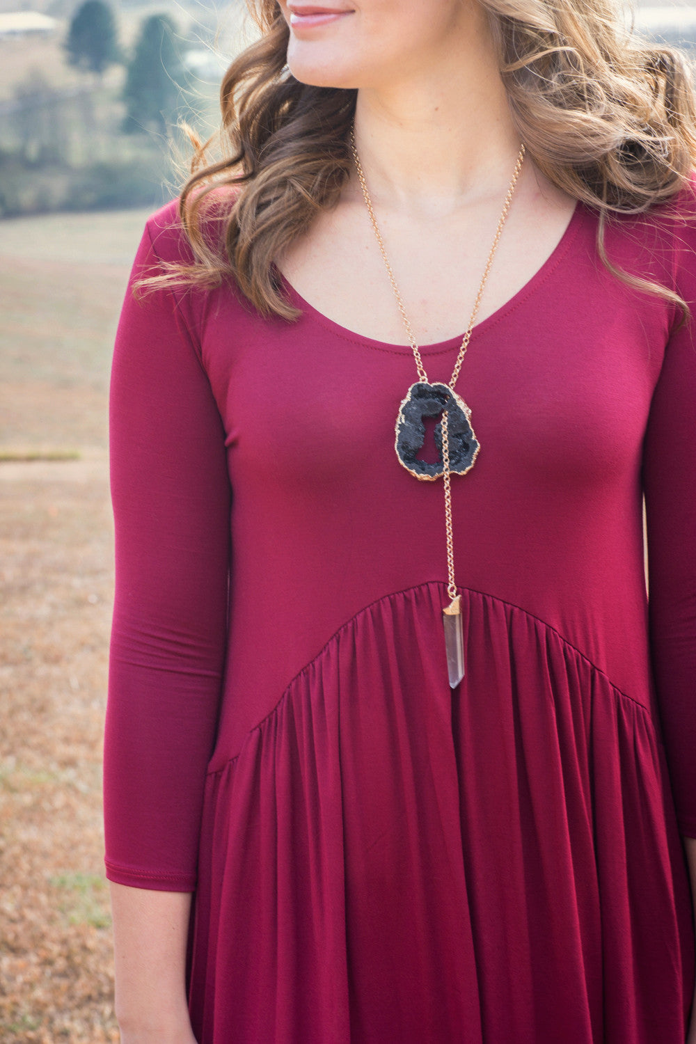 Eliza Stone Necklace | Shira Melody - The Loft Boutique - Accessory  - 1
