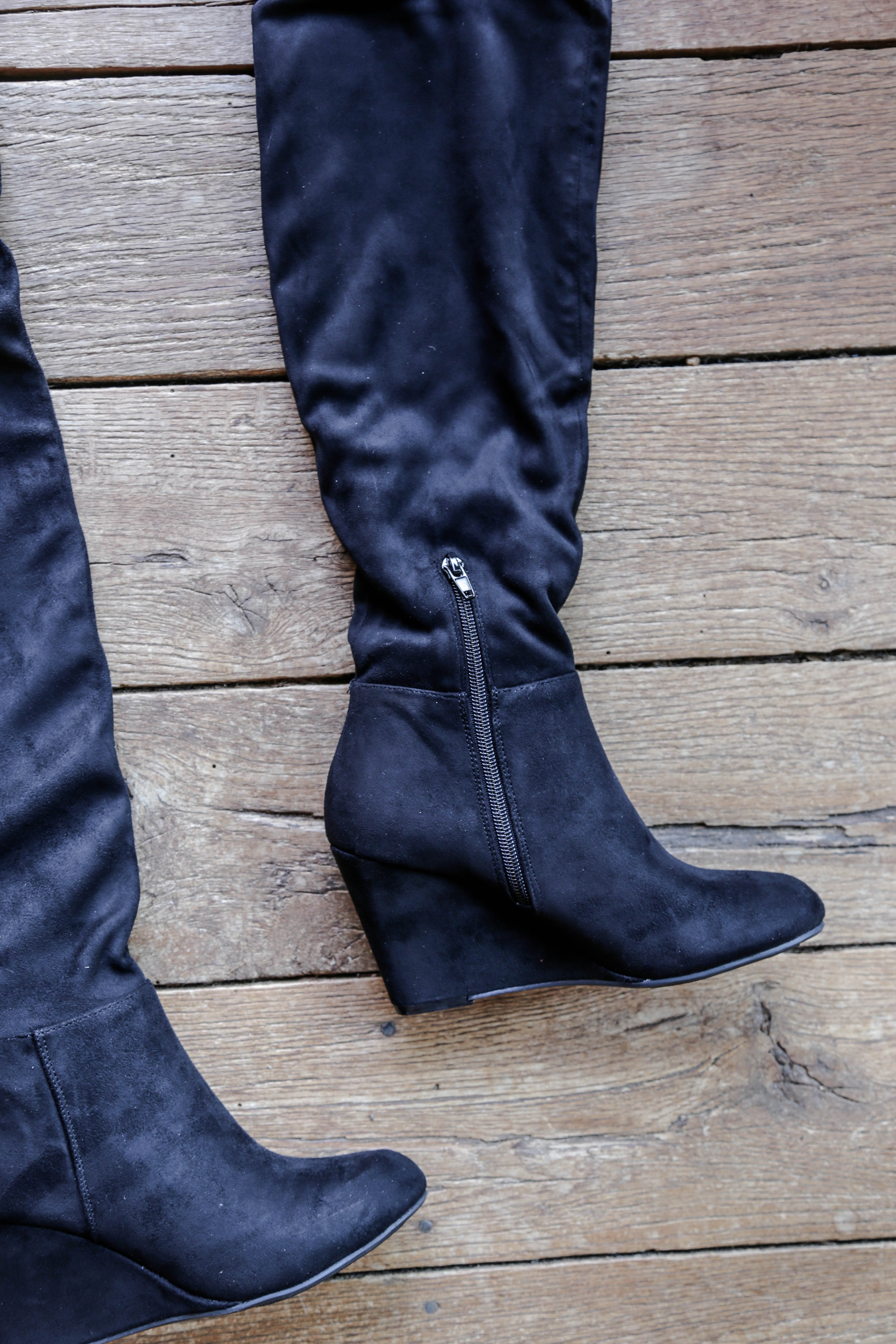 d913b24eae5 Over The Knee Wedge Boot