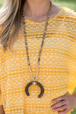 The Ralph Necklace, Brown/Multi.  Handmade by Betsy Pittard Designs