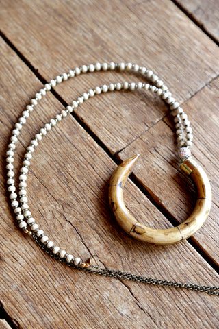 The Colby Necklace, Taupe | Betsy Pittard Designs