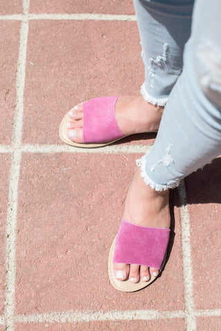 Cabana Suede Leather Sandal, Pink | Coconuts by Matisse