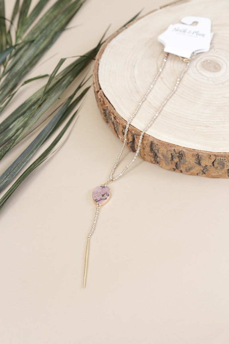Kellen Necklace, Pink
