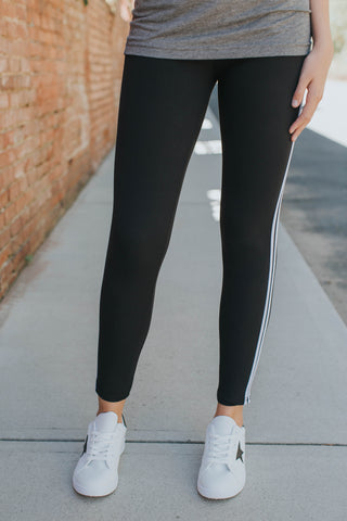 High-Waisted Sweat Pant Leggings, Black