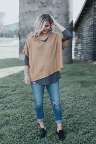The Janie Top, Charcoal