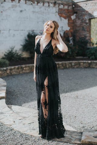 Sophia Sequin Maxi Dress, Rose Gold