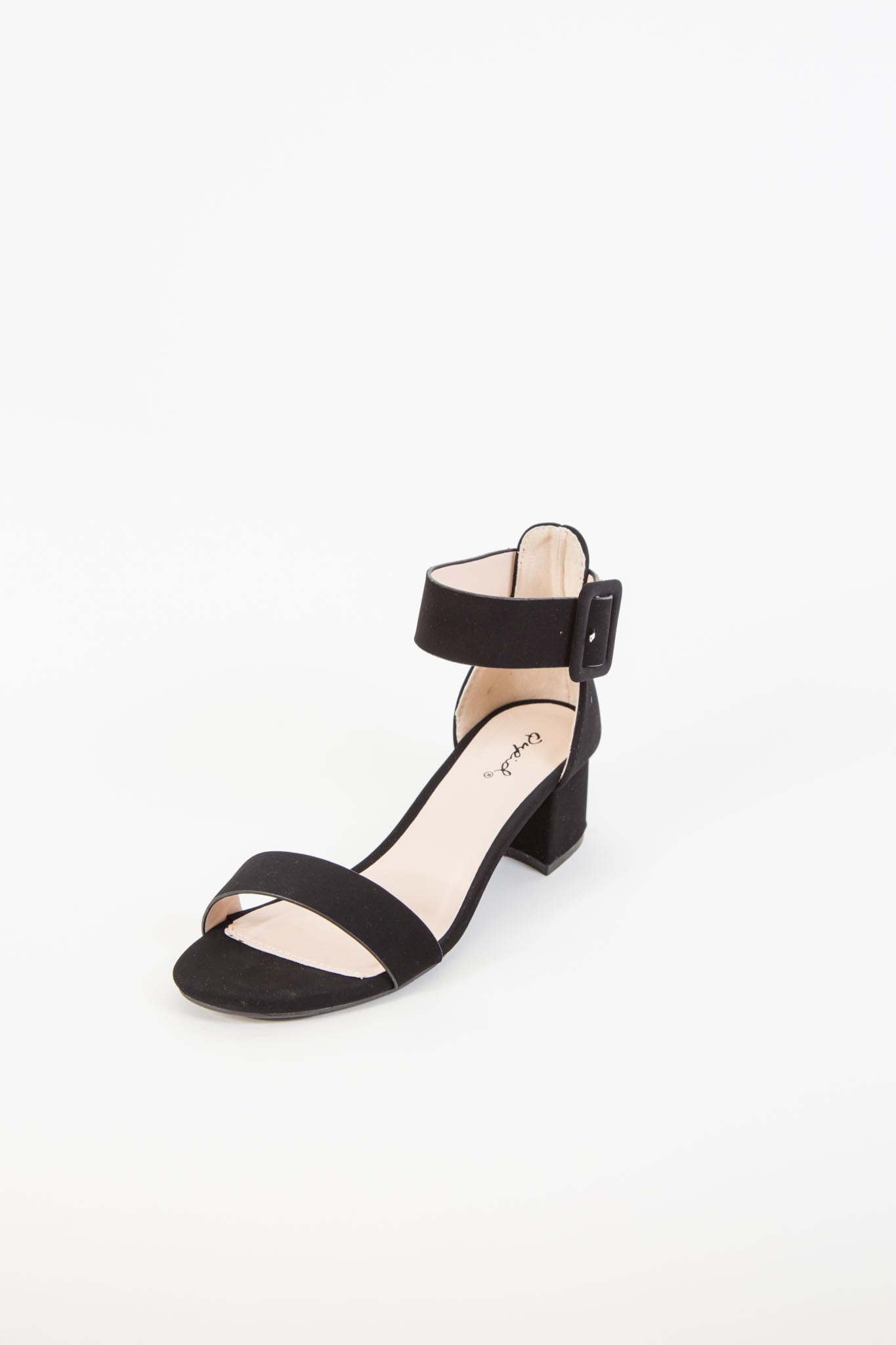 Katz Single Band Ankle Sandal, Black