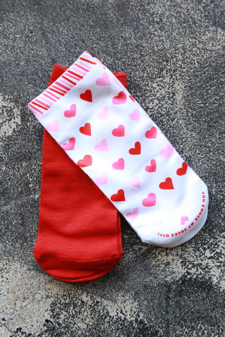 Knock My Socks Off Set | Red - The Loft Boutique - Clothing  - 1