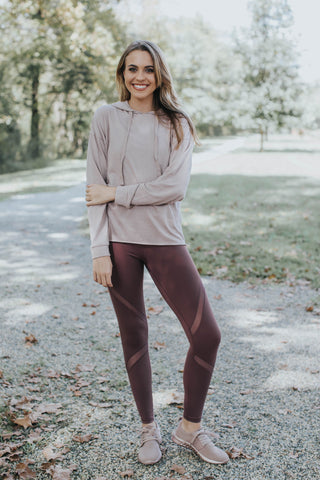 Della Hooded Pullover, Dusty Pink