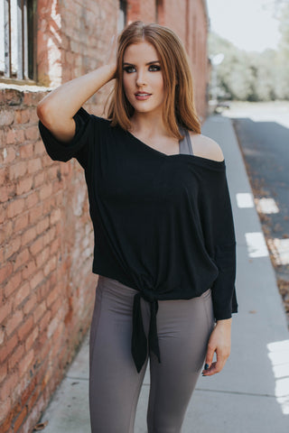 Dylan Knotted Top, Black