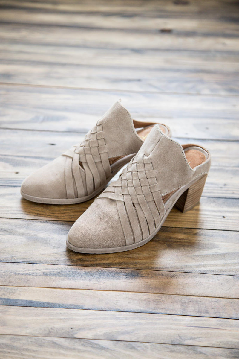 Levi Woven Leather Mule, Sand | Rebels | Women's Shoes
