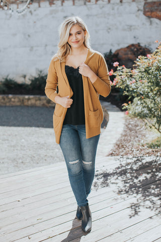 Most Loved Open Cardigan, Mustard