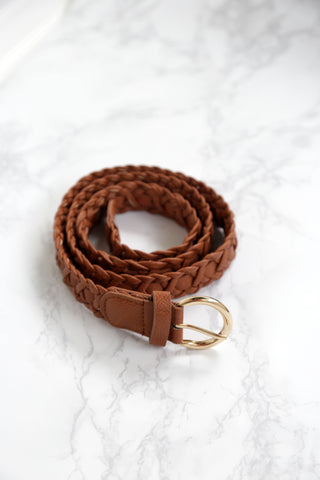 Lodge Braided Belt, Camel