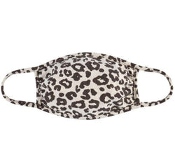Kids Fashion Face Mask, Taupe Leopard
