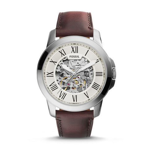 Grant Automatic Leather Watch, Dark Brown - The Loft Boutique - Accessory  - 1