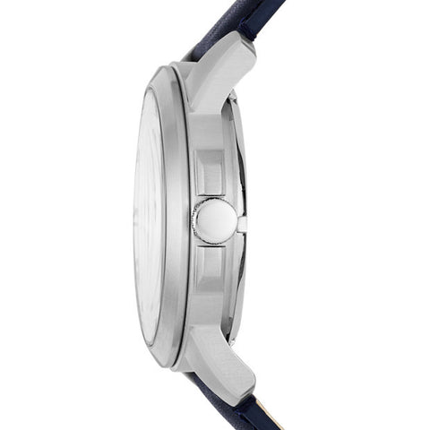 Grant Automatic Leather Watch, Navy & White - The Loft Boutique - Accessory  - 2