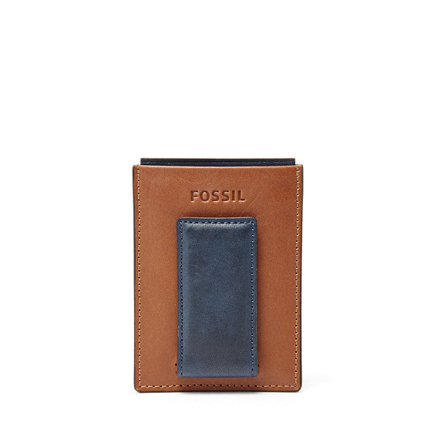 Max Magnetic Card Case, Navy by Fossil
