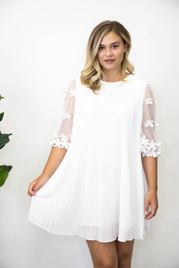 Summer Event Dresses | Megan Pleated Dress, Off White