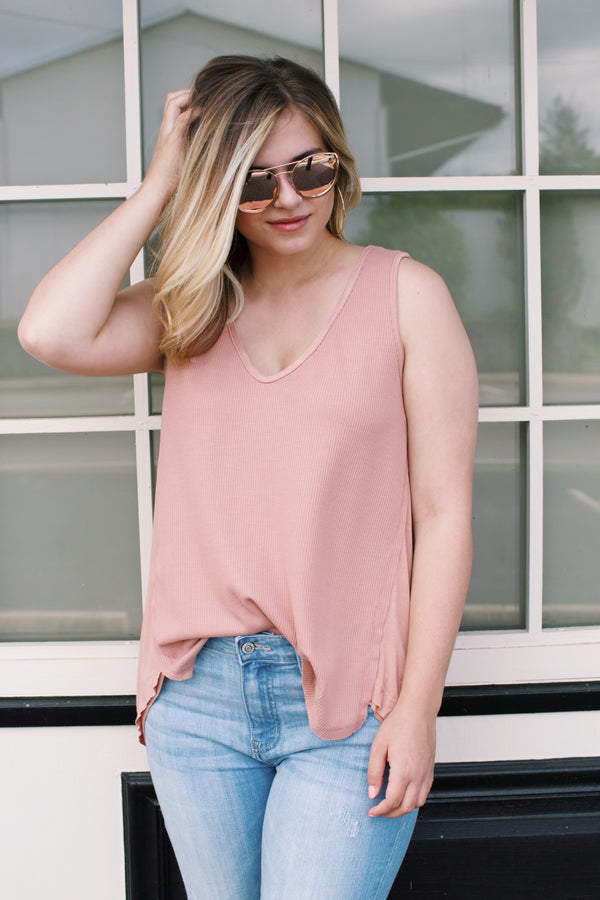 Tunic Tank Top, Dusty Coral