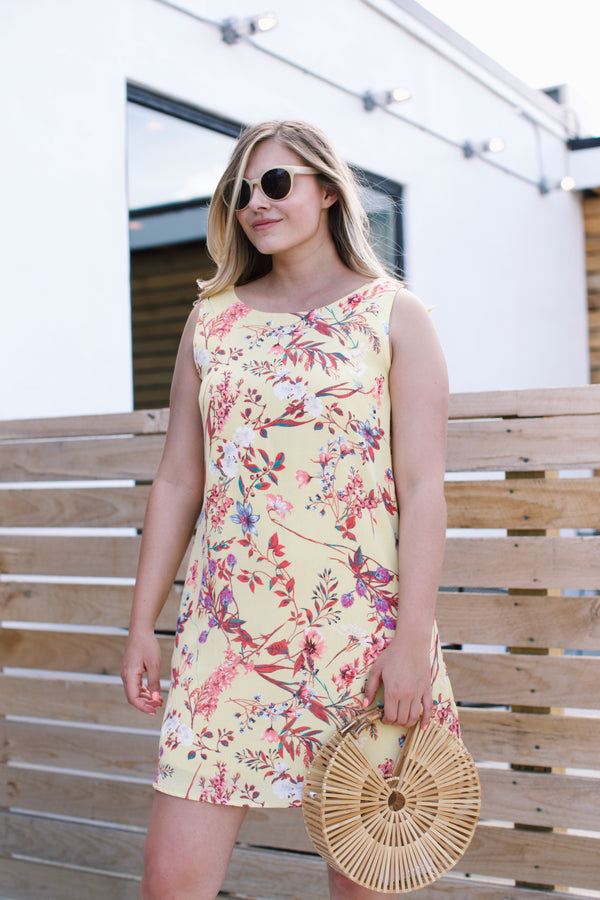 Early Morning Floral Dress, Yellow | Summer Sundresses