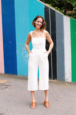 SunBeam Jumpsuit, Off White