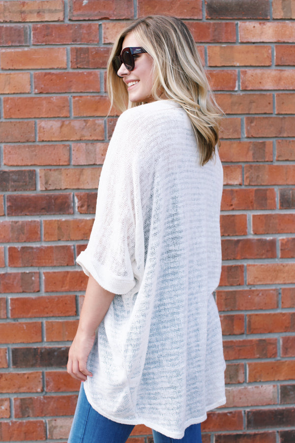 Janet Cardigan, Off White