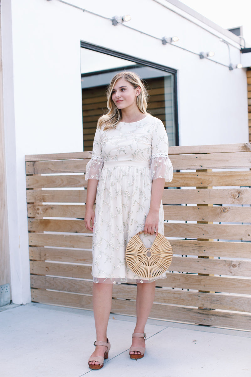 Sophie Midi Dress, Cream | Summer Clothing Collection