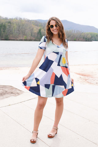 What You Make Of It Dress, Navy Multi | Women's Funky Dresses