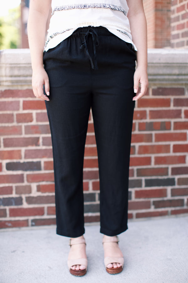 It's A Breeze Linen Pant, Black