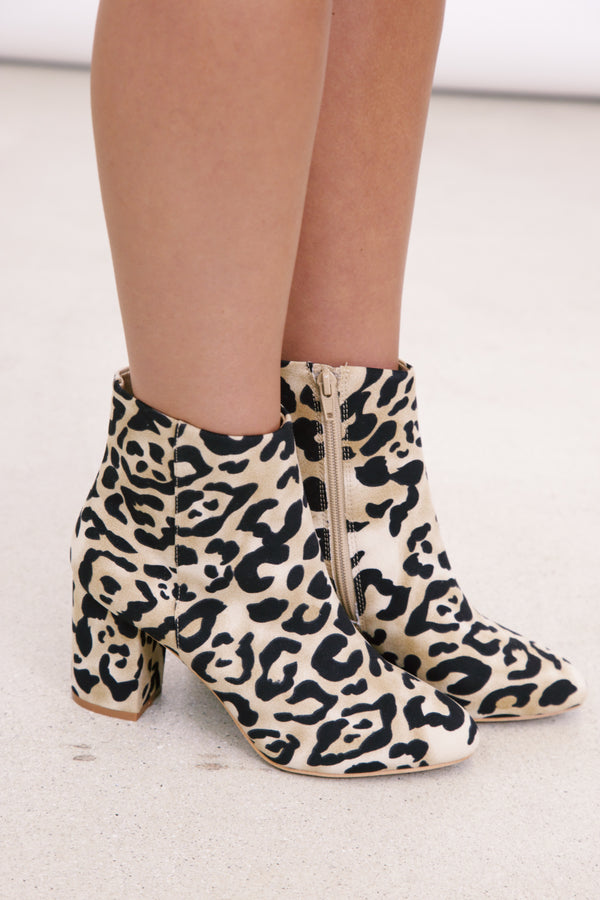 Andrea Leopard Block Heel, Natural/Black | Band of Gypsies