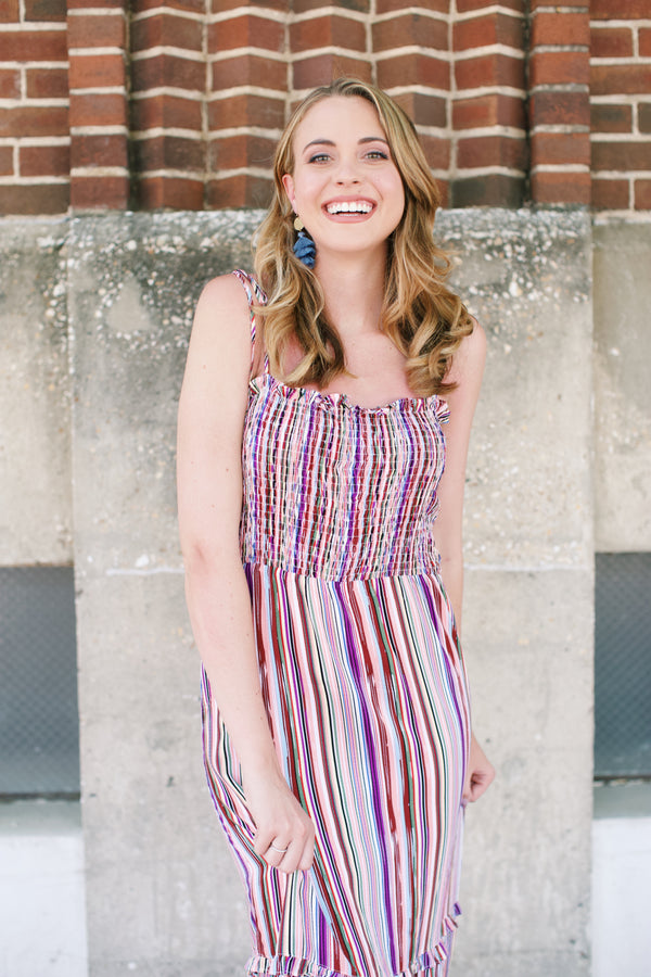 Disco Maxi Dress, Mix Stripe