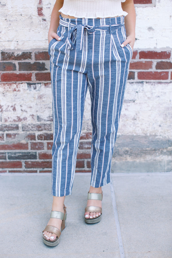 Sandcastle Pant, Navy Stripe