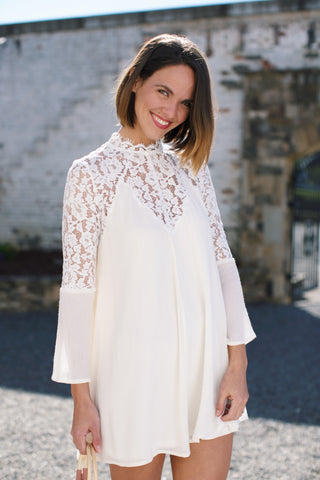 Goldie Lace Dress, Off White