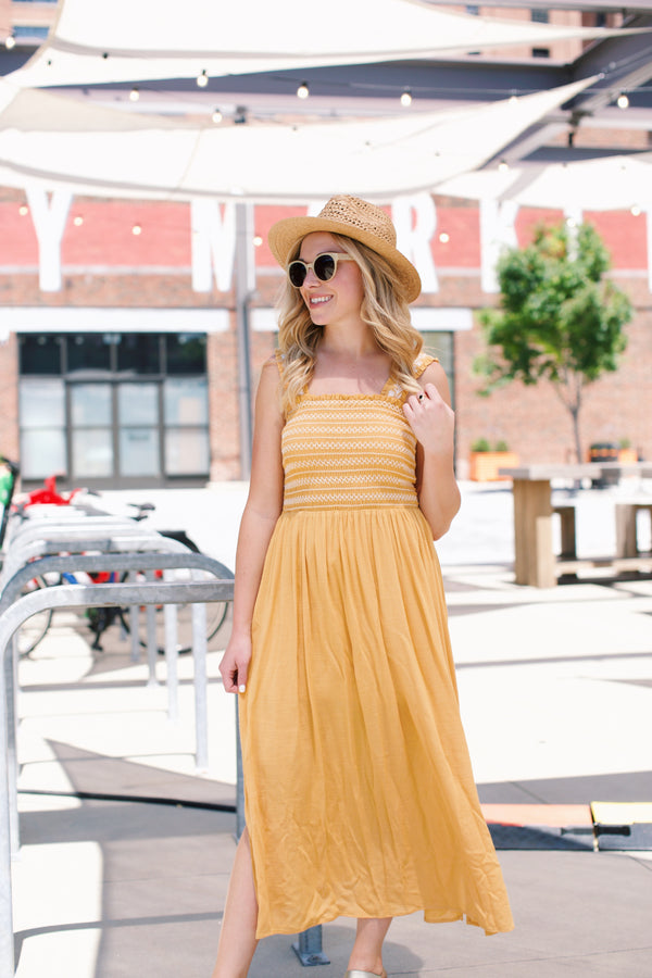Madi Maxi Dress, Marigold