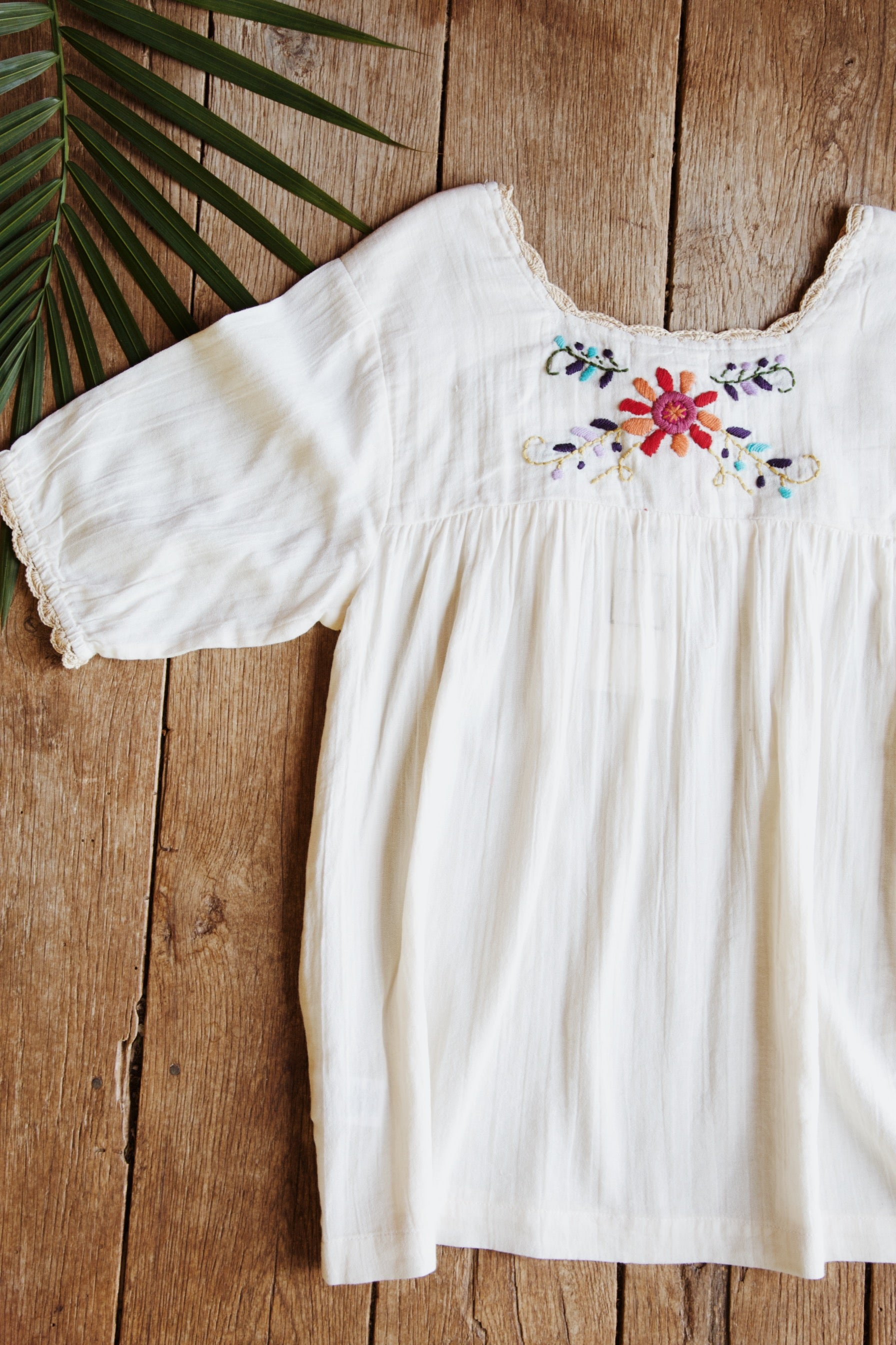 Floral Embroidered Blouse, Cream | Women's Summer Wear Clothing