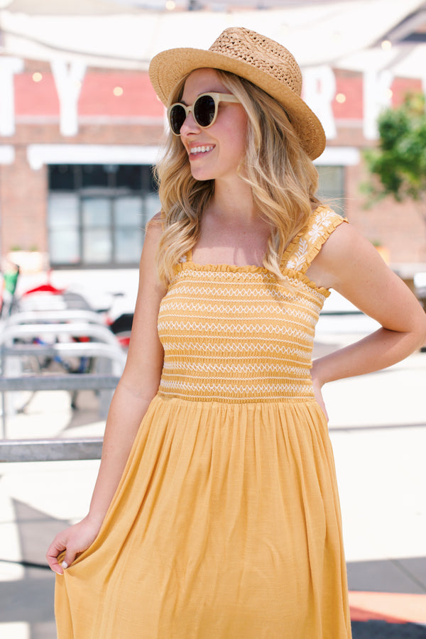 Madi Maxi Dress, Marigold | Fun Clothes