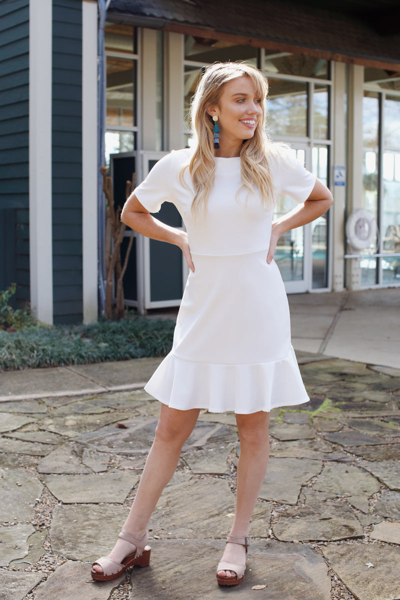 Kick Up Your Heels Dress, Ivory