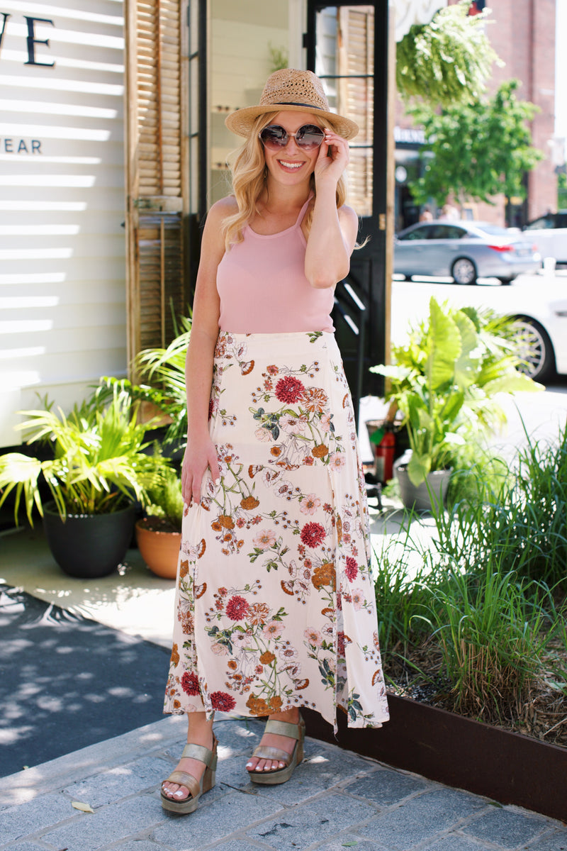 Halter Crop Top, Blush